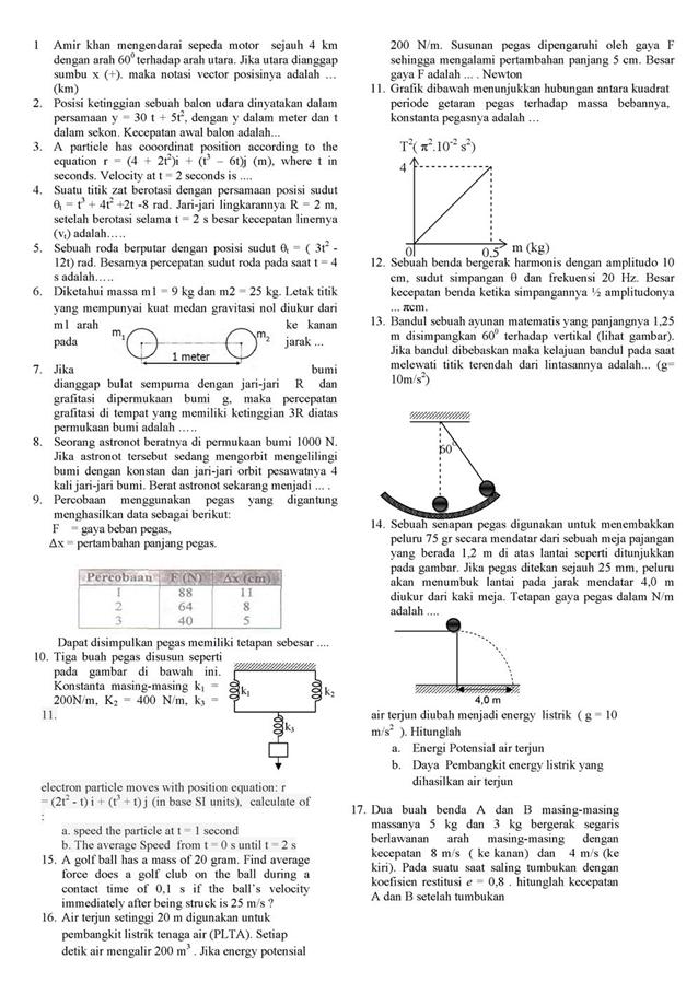 Kumpulan Soal Fisika Kelas X